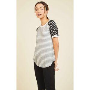 ModCloth Flatter Up! T-Shirt in Print Mix